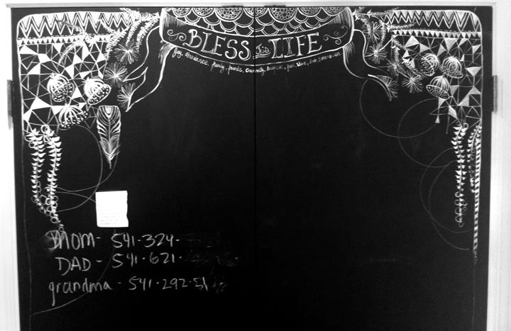 Chalkboard kitchen anahatakatkin