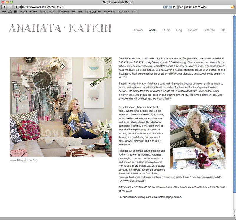 Anahata Katkin Website