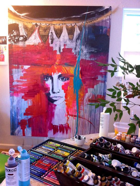 Anahata Katkin-lost painting