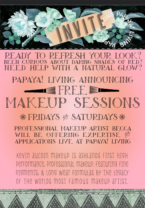 Papaya living Makeup Invite