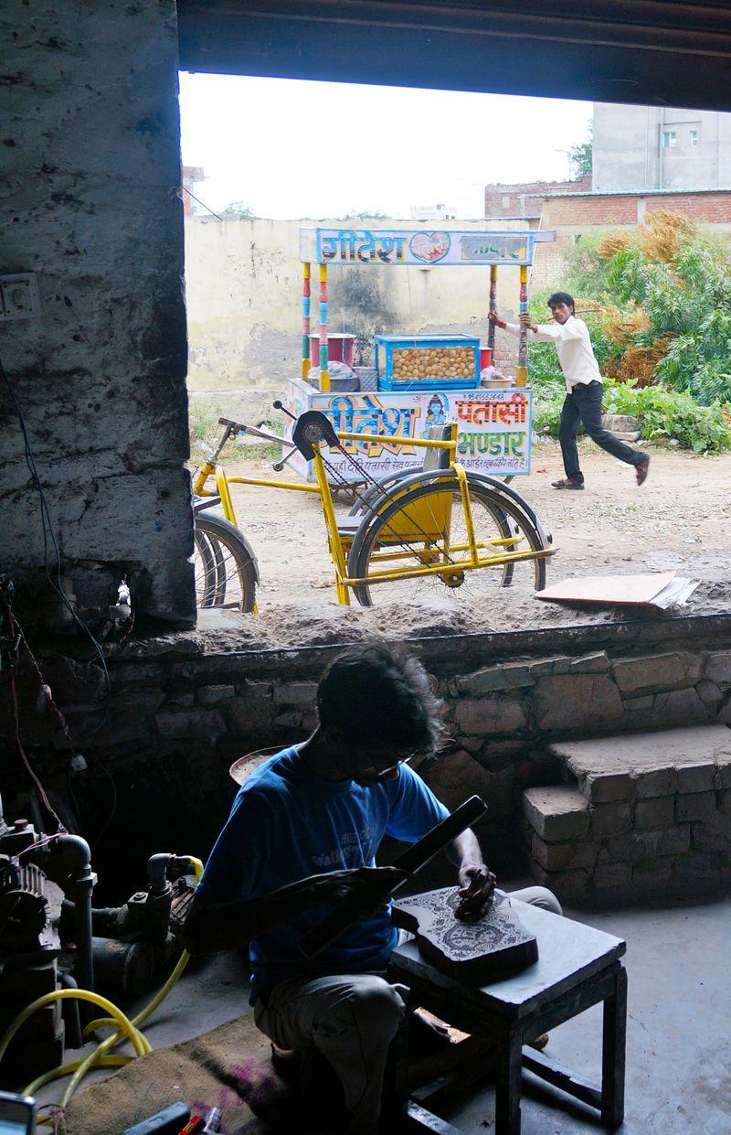 Block print carvers jaipur india