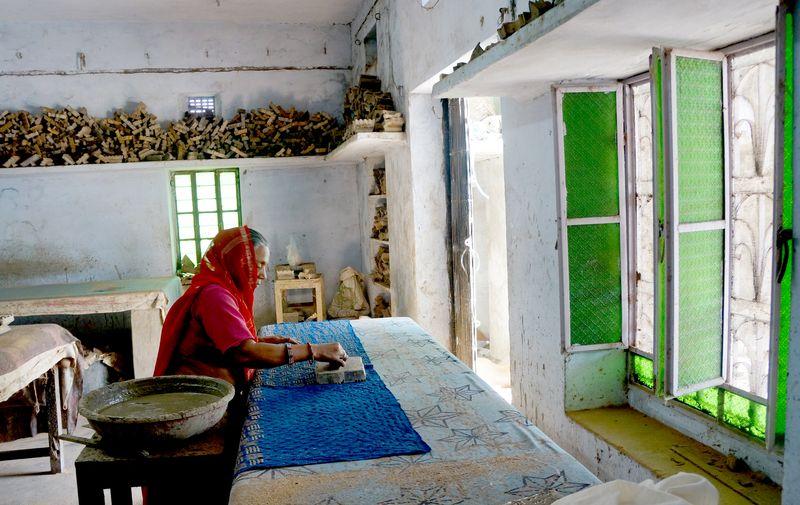 Indigo dyers workshop bagru india