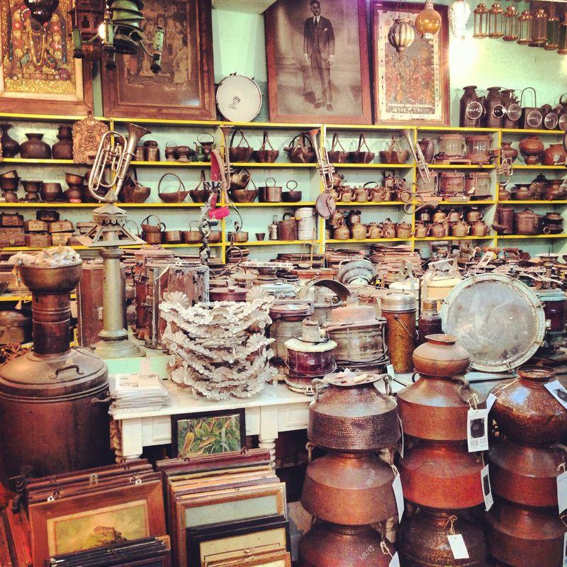 Antique brassware india anahata katkin