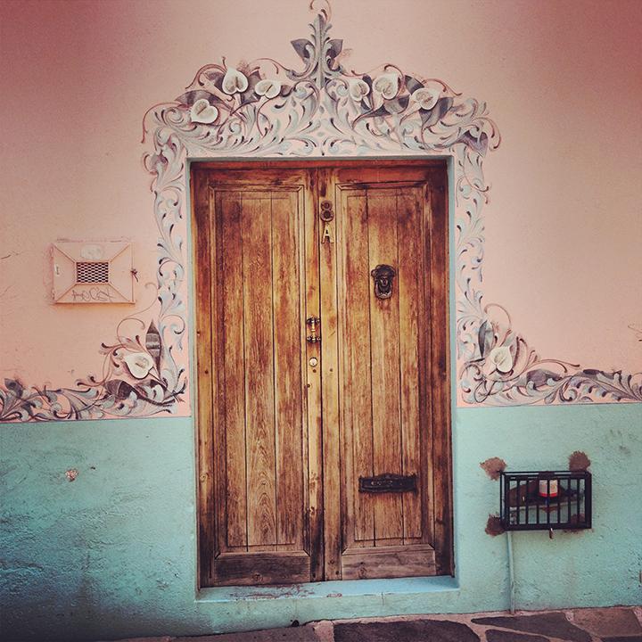 Painted door san miguel mexico