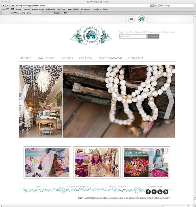 Papaya living website