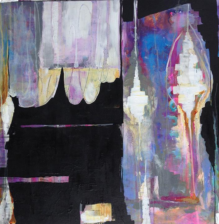 Anahata katkin painting abstract