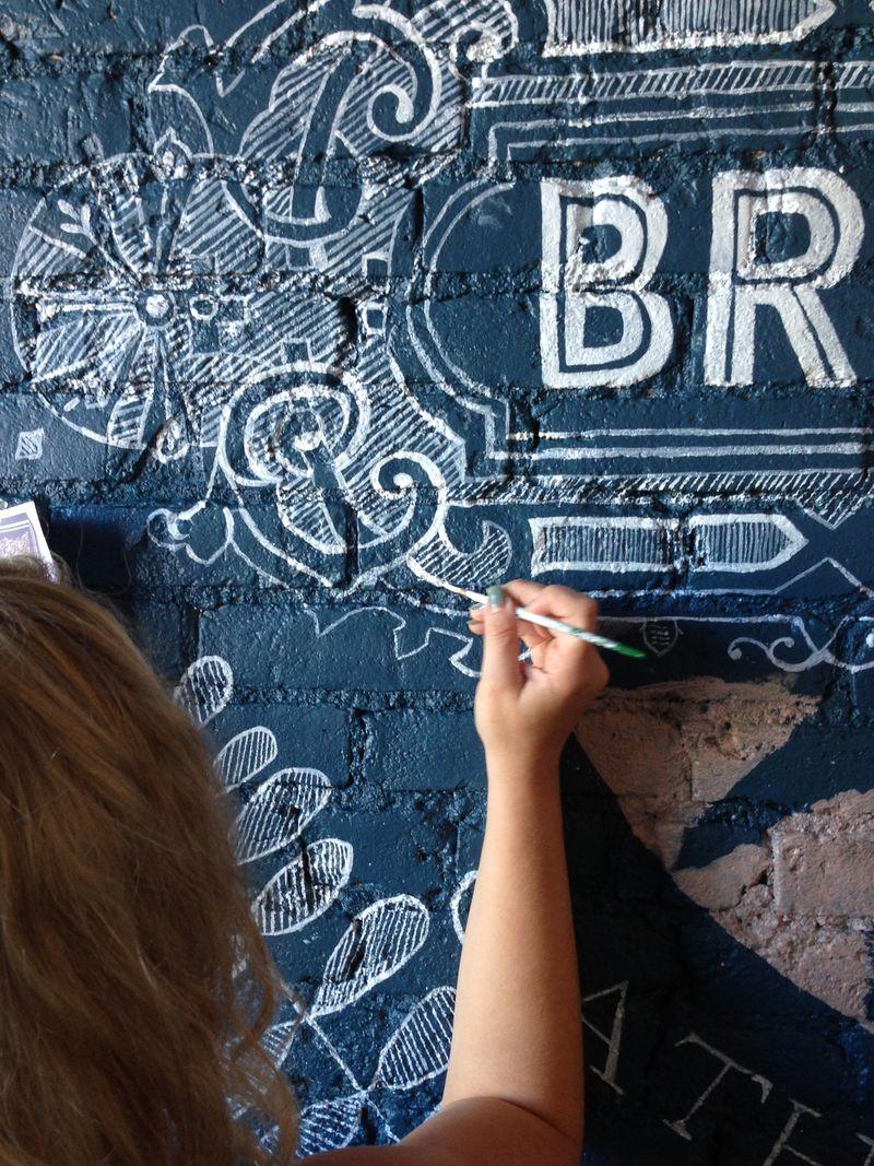 Brickroom Restaurant Mural by Anahata Katkin2