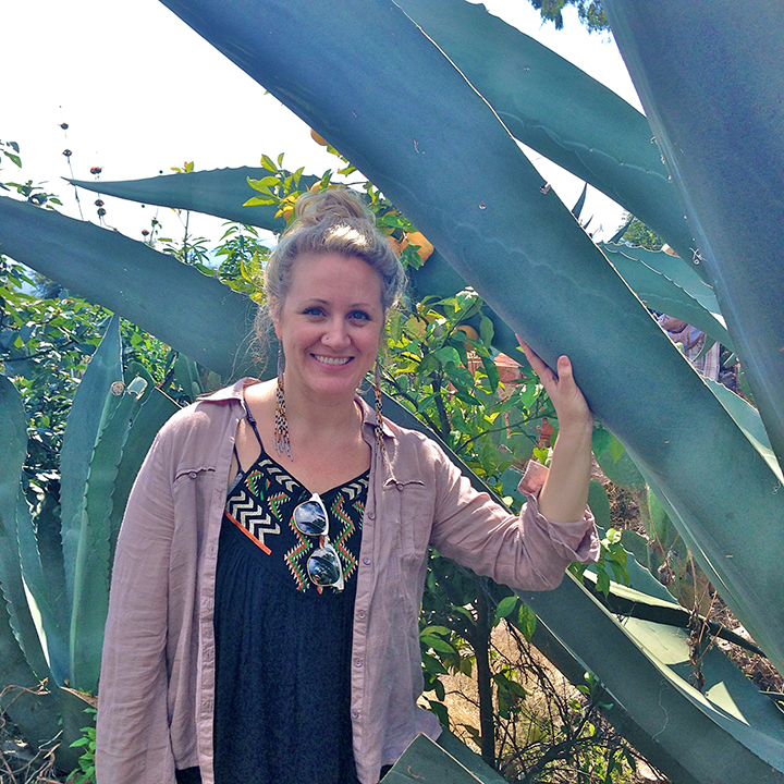 Anahata with the maguey plants