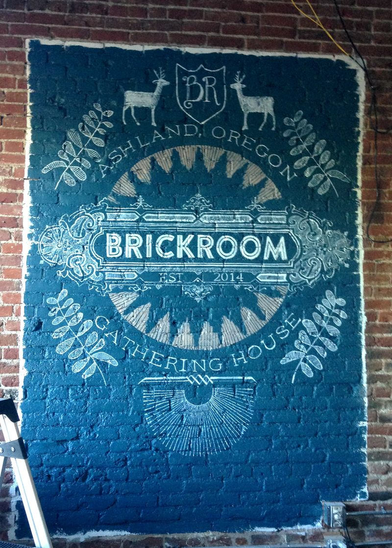 Finished Brickroom Restuarant mural by Anahata Katkin