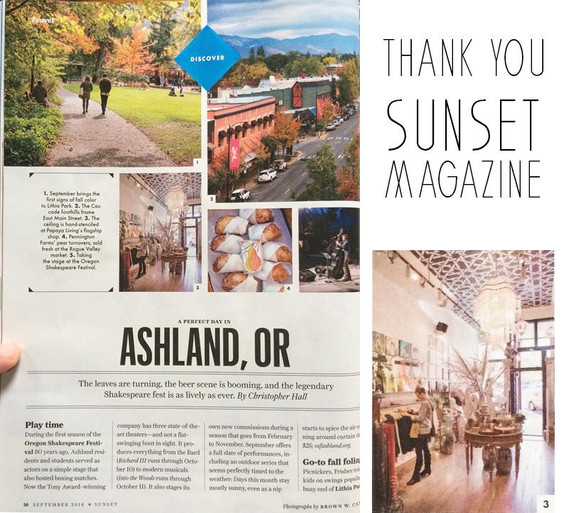 Sunset Magazine featuring papaya living